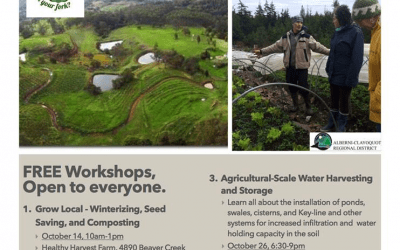 ACRD Agricultural Workshop-Agricultural scale water harvesting and storage